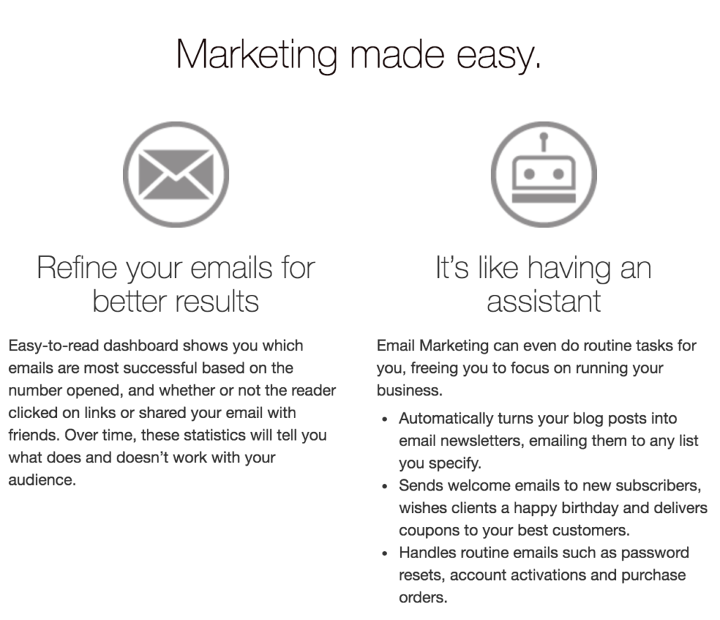 Email marketing made easy.